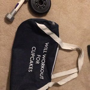 Fab fit fun will workout for cupcakes gym bag.